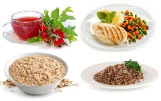 Основные правила диеты при хроническом гастрите